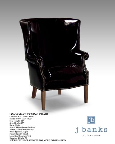 The Mayer Chair - Shown here in a playful patent leather, this occasional chair is an essential...