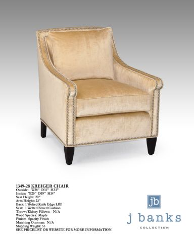 The Kreiger Chair - The perfect wing chair complete with nailhead detailing...