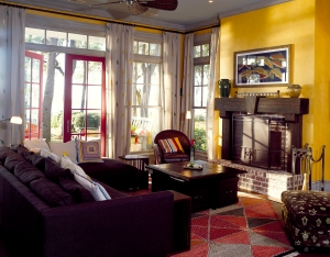 Yellow Accents in the Den