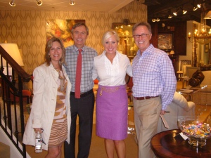 Joni Vanderslice & Anna Ruby (VP-Creative at J Banks) with Gary Mann & Randy Grizzel, owners of Grizzel & Mann