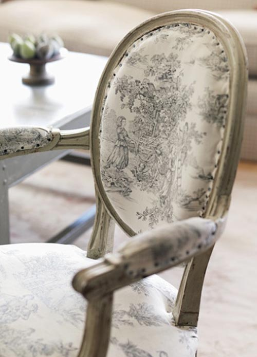 Black & white Toile chair