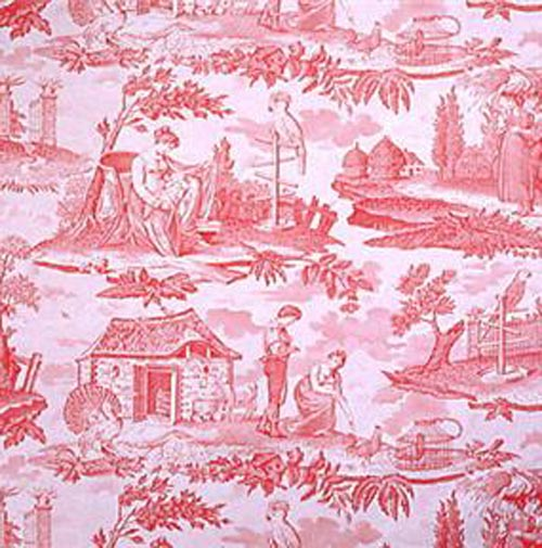 Brunschwig & Fils Rose Toile Fabric