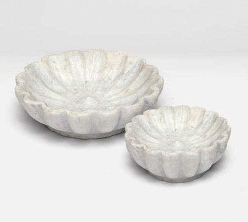 Marble Lotus Flower Bowls