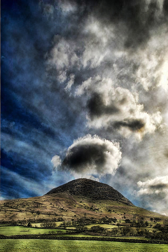 Atmospheric Slemish scene
