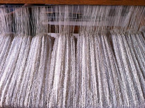Double Boucle Throw -weave process